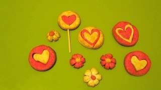 Печенье - 💛💚💙💜 СЕРДЕЧКИ 💜💙💚💛