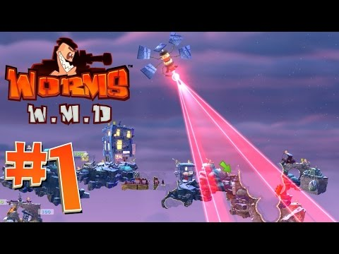 [1] OMG LOL Strike Destruction!!! (Worms WMD Multiplayer)