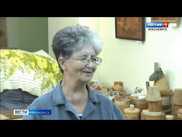 Дивногорская мастерица создаёт изделия из бересты
