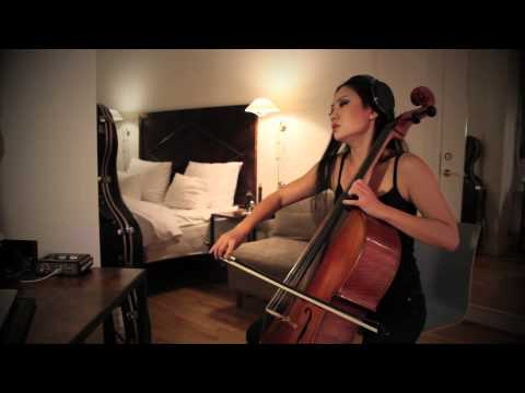 Tina Guo Hotel Room Cello-ing in Copenhagen Sakura by D. Cullen