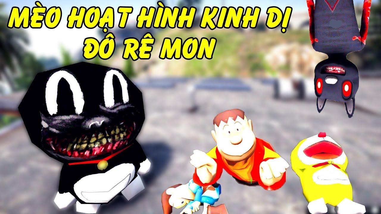 GTA 5 – Mèo hoạt hình kinh dị phiên bản Đôrêmon (Doremon Cat Cartoon) | GHTG