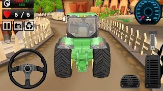 Tractor Trolley Game    Green Real Tractor Racing Game 3D    Tractor Games    Kids Games