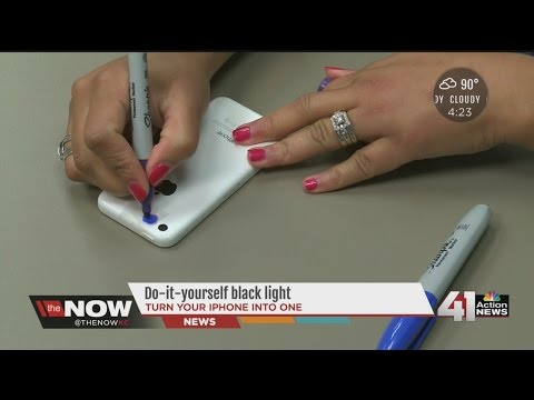 DIY Black light on your smartphone