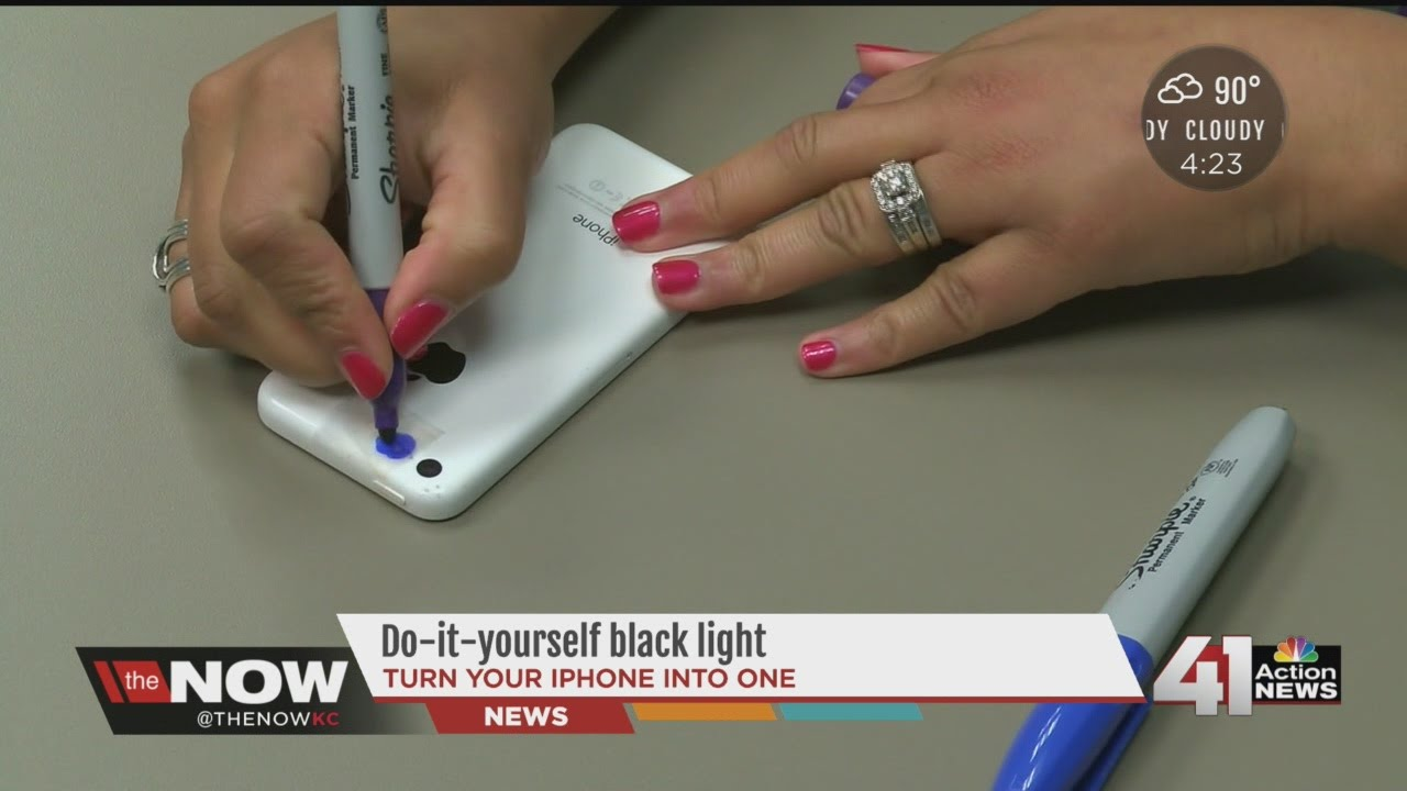 DIY Black Light On Your Smartphone YouTube - Transform your phone into a blacklight using just a tape and sharpie