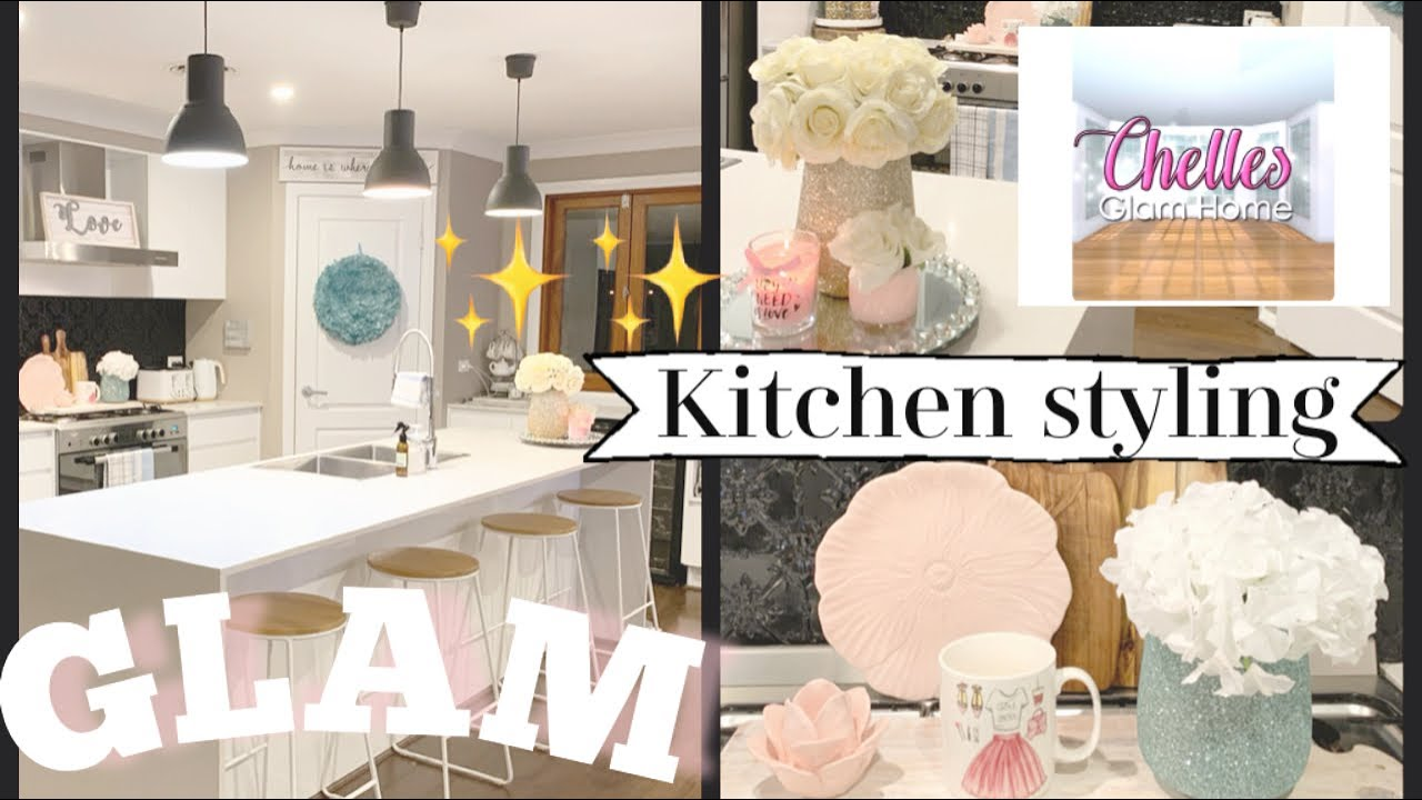 Glam Kitchen Tour Kitchen Decorate With Me How To Style A Glam Kitchen Youtube