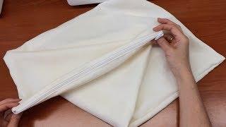 Как сшить чехол на подушку с молнией(Добрый день.Не заменимая постельная деталь - это чехол с молнией на подушку.Применяется он для защиты напер..., 2014-06-01T11:40:32.000Z)