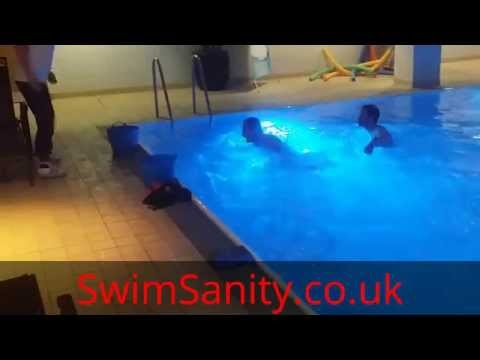 www.SwimSanity.co.uk  -  workout side leap aqua drill