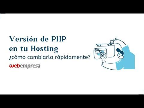 Versión de PHP en tu Hosting ¿cómo cambiarla rápidamente?
