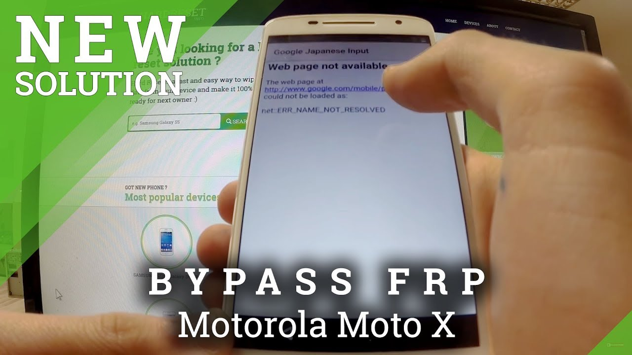 Bypass Google Account In Motorola Moto X  Remove Factory Reset Protection   Youtube