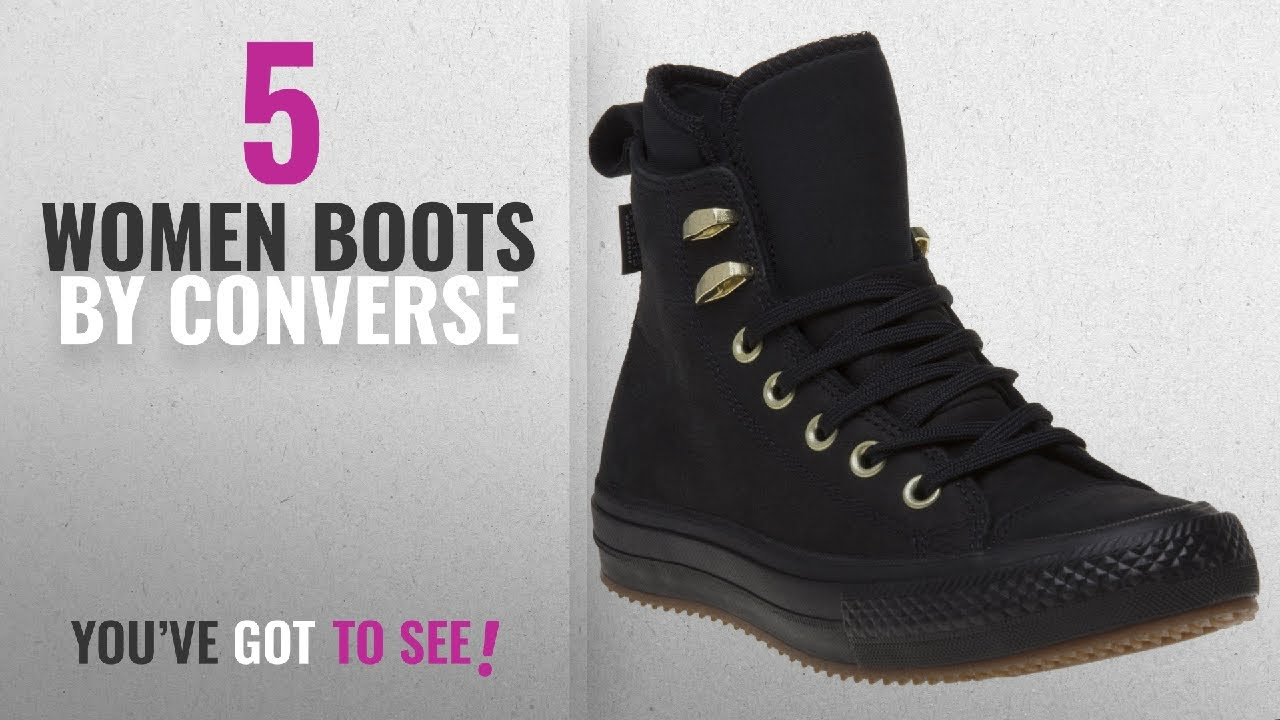 dec466fdf9d Top 10 Converse Women Boots  2018   Converse Womens Chuck Taylor All Star  Waterproof Boot Hi Black
