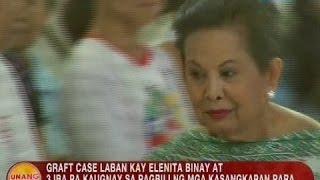 UB: Graft case vs. Elenita Binay at 3 iba pa, ibinasura ng Sandiganbayan