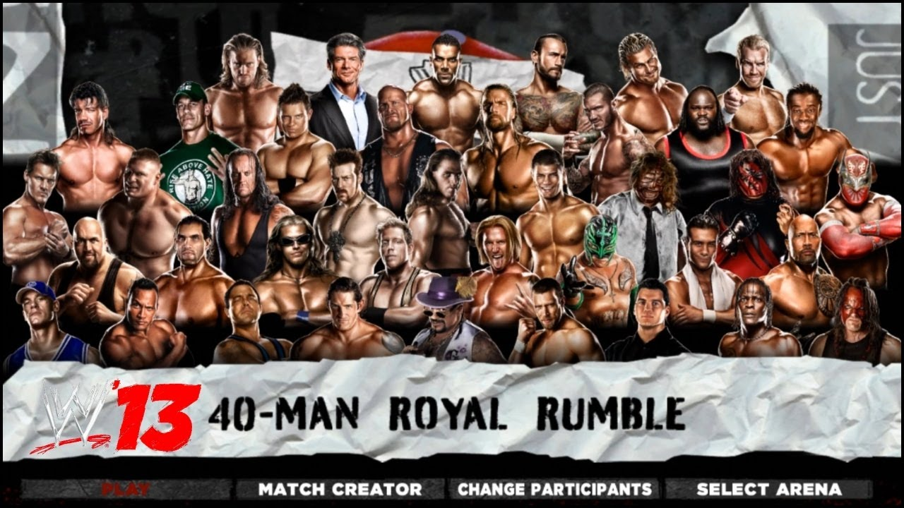 WWE '13 Royal Rumble INFERNO I QUIT SPECIAL REFREE & More Gameplay | WWE '13 Gameplay ||