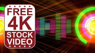 Stock Videos – VJ-Loops der DJ-Musik-equalizer bunten animierten 3D-motion-graphics