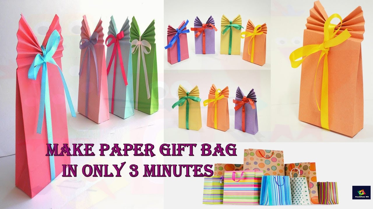 Make Paper Gift Bag In Only 3 Minutes