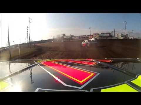 Boone Speedway Clint Luellen Sportmod Heat OnBoard April 6, 2013