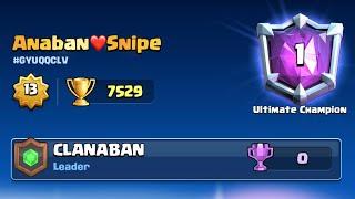 ¡Top 1 del mundo en +7529 Copas!!! 😱🏆 *épico*   Clash Royale -Anaban CR