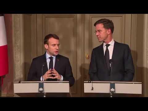 Emmanuel Macron: Déclaration à la presse avec Mark Rutte, Premier ministre des Pays Bas