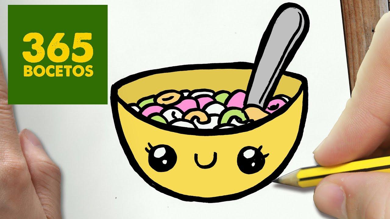 Como Dibujar Cereales Kawaii Paso A Paso Dibujos Kawaii Faciles