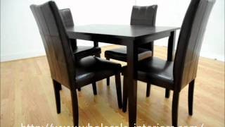 Wholesale Interiors Eden Dark Brown 5 Piece Modern Dining Set