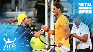 Nadal breaks set record; Lajovic stuns Del Potro   Madrid 2018 Highlights Day 5