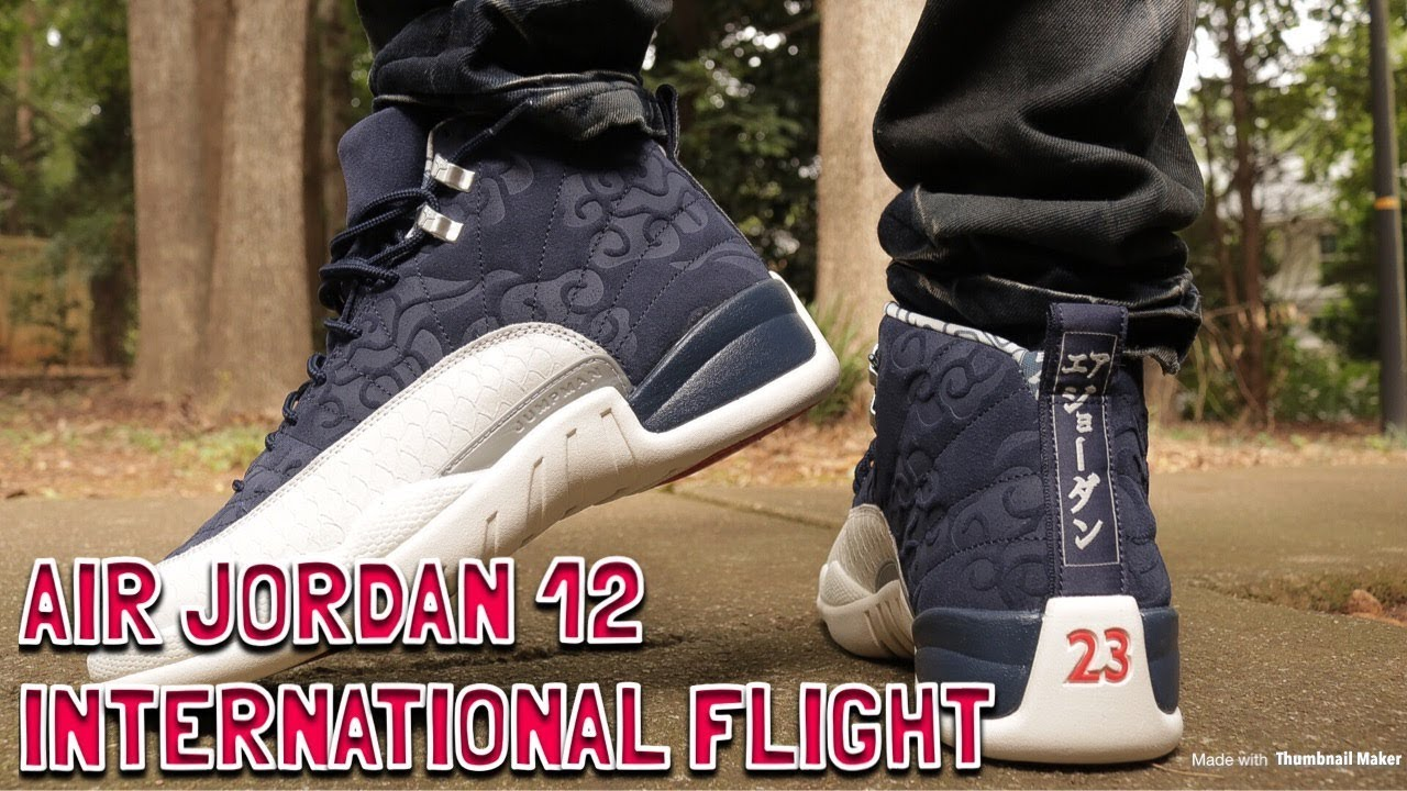 87490120192aa7 AIR JORDAN 12 INTERNATIONAL FLIGHT REVIEW   ON FEET - YouTube