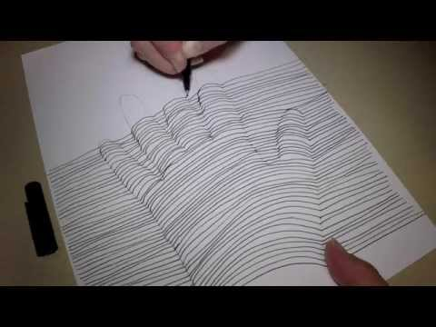 how to draw a 3d hand