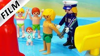 Playmobil Film deutsch   EINBRUCH in den AQUAPARK & PAPA wird verhaftet?! Kinderserie Familie Vogel