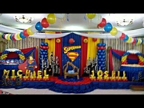 Fiesta de superman 2018 decoracion party childrens boys for Decoracion de mesas dulces infantiles