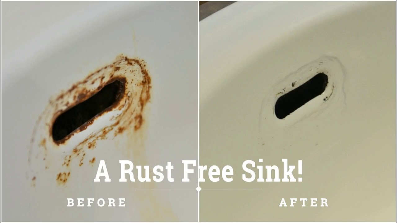 Remove Rust Stain On Porcelain Sink