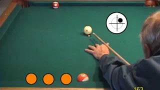 Custom pool drills - rail cut shots with english (sidespin), from VEPP V (NV C.19)