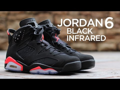 4db29a57dcfa Closer Look  Air Jordan 6 Retro - Black Infrared - YouTube