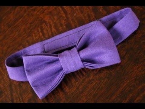 Бабочка галстук своими руками из атласной ленты