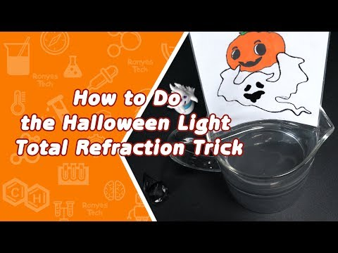 Zip Lock Bag Water Refraction - Halloween Activity