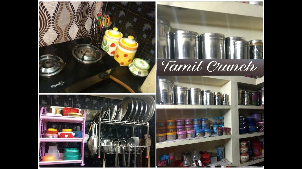 kitchen organization ideas in tamil / how to organize small kitchen