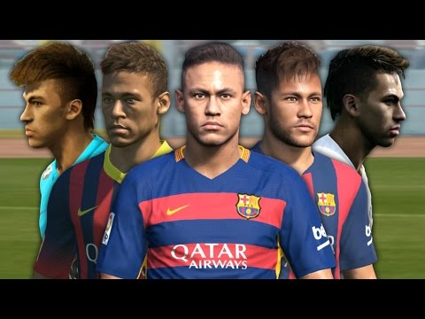Neymar From PES 2012 To PES 2016