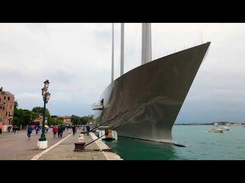 Superyacht A Docked In Venice