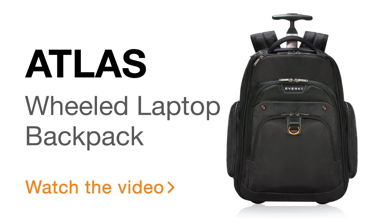 everki atlas wheeled laptop backpack 13inch to 173inch adaptable compartment ekp122 youtube