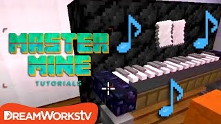 How to Build a Piano You Can Play in Minecraft | MASTER MINE TUTORIALS