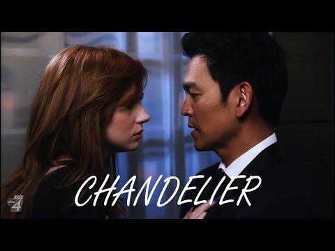 Selfie - Eliza and Henry - Chandelier