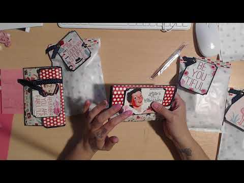 Reveal: My entry Mini Brag Book Swap Scrapdaworld