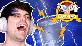 PLAYING CUPHEAD WITH CUPS OF WATER   Damien Breaks Games