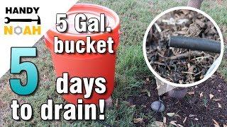 DIY - 5 gallon bucket gravity drip irrigation system for trees or bigger plants tutorial