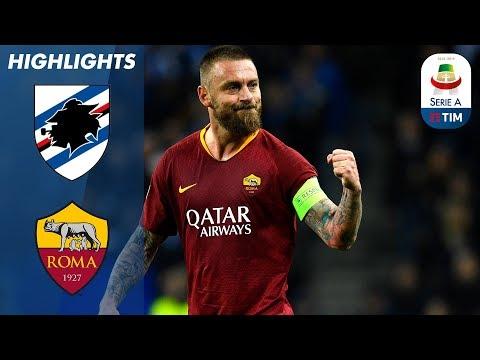 Sampdoria 0-1 Roma | De Rossi Leaves it Late to Score in Roma Victory! | Serie A