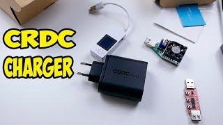Обзор и тест зарядное устройство CRDC на 2 USB  и быстрой зарядкой qualcomm quick charge