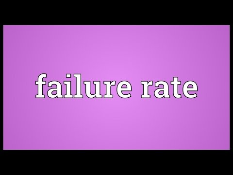 Failure rate Meaning