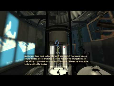 Let's Play Portal 2 Singleplayer E1 - The Courtesy Call