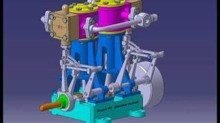 Conception d'un moteur bicylindre pneumatique