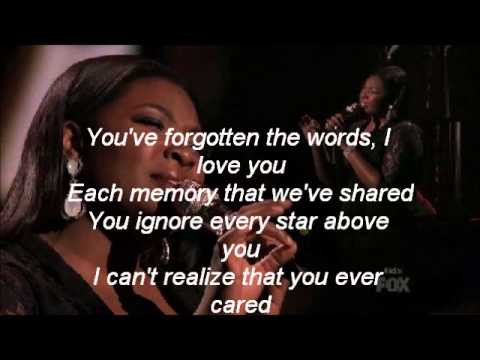 Candice Glover-You've Changed-American Idol 12[Lyrics]