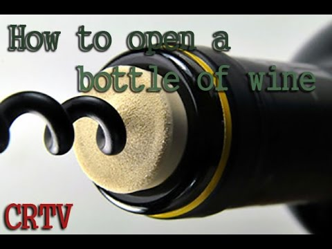 How to Open a Bottle of Wine. Russian method