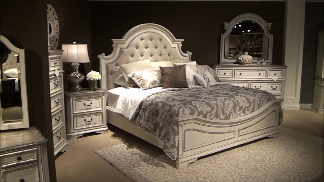 Magnolia Manor Upholstered Bedroom Set by Liberty Furniture - YouTube